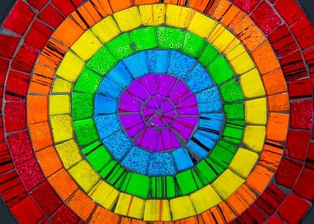 Zoom in colorful ceramic glass plate Stock Photo - 22012976