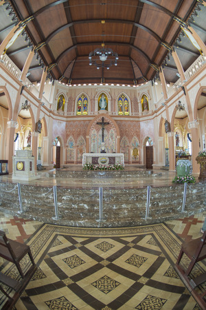 aisles: The Oldest Catholic church in Thailand
