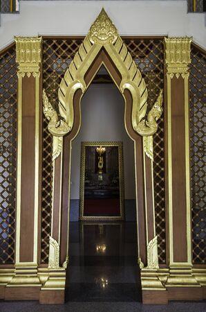 thai craft: Temple door in Thai craft style