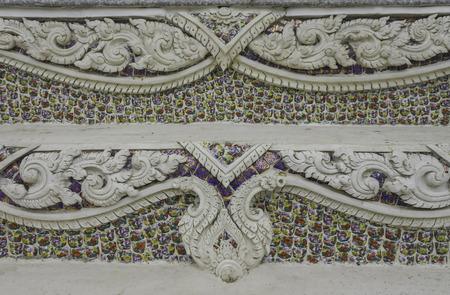 stucco: Stucco on Thai temple wall Stock Photo