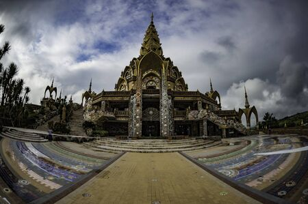 Beautiful decoration temple in wide angle