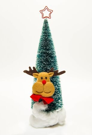 Reindeer face on Christmas tree