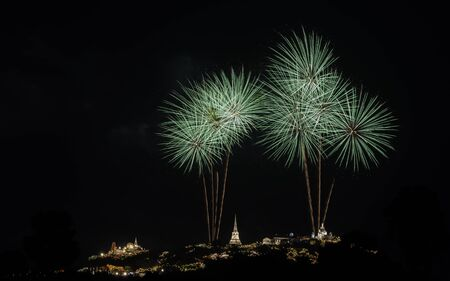 Firework over the old Thai Palace