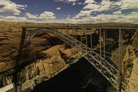 Glen Canyon Bridge across Colorado river Stock Photo
