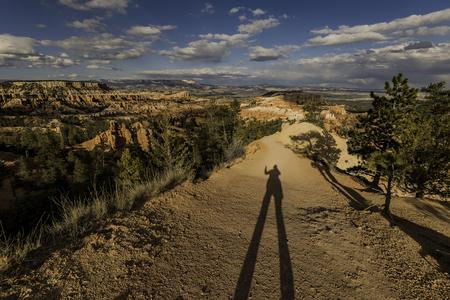 Long shadow of human Stock Photo