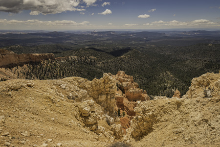 Viewpoint of Bryce Canyon in USA