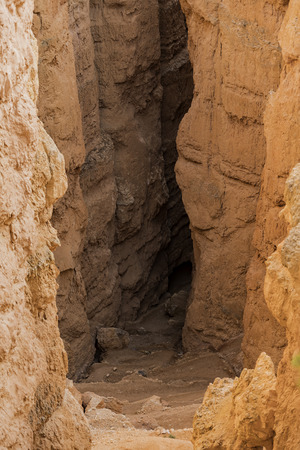 Narrow gap of Bryce Canyon