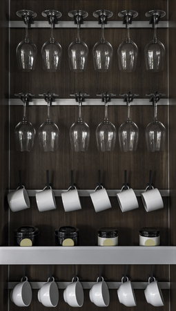 Cabinet of Wine glasses and cups