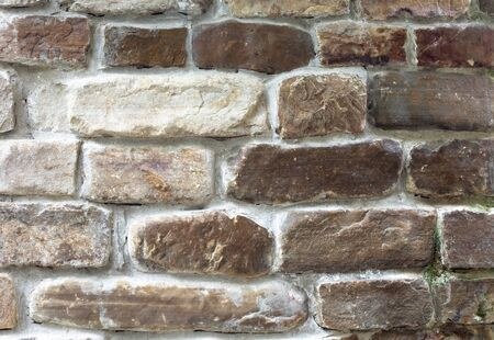 Brown old stone bricks wall derorative finishing