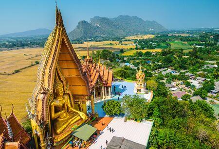 buddha tranquil: Big Buddha statue at Tiger Cave Temple (Wat Tham Sua), Kanchanaburi Province, Thailand
