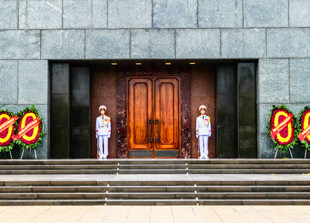 mausoleum: Soldier guard at Ho Chi Minh Mausoleum, Hanoi, Vietnam, 07 Jan 20115