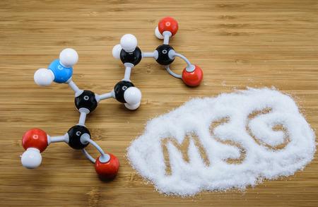 글루타메이트의 분자 (MSG), 많은 아시아 음식의 맛 증강 스톡 콘텐츠