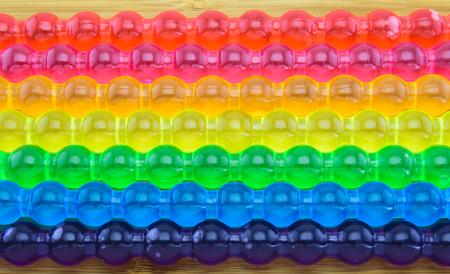 paletas de hielo: Antecedentes de Rainbow jalea palo para el orgullo gay y el concepto LGBT