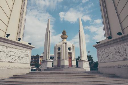 democracy Monument: Democracy monument Bangkok, Thailand in Aged Sepia film