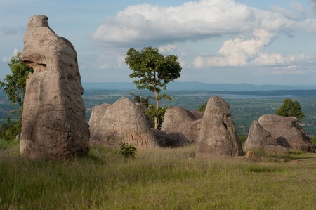 atmospheric phenomena: Moe Hin Khao stonehenge of Thailand   Stock Photo