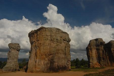 atmospheric: Moe Hin Khao stonehenge of Thailand   Stock Photo