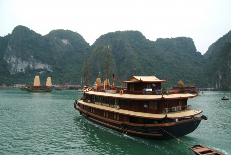 Tour Boat in Halong Bay, Vietnam