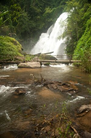 Pha Duak Saew waterfall in forest  Changmai Province in Northern of Thailand  photo
