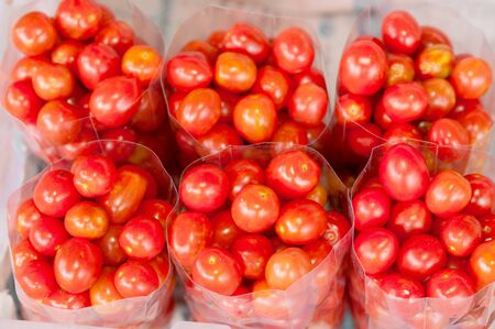 Tomatoes in plastic bags   photo