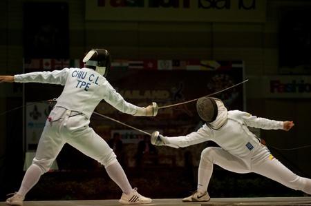 mosquetero: Abierto de Tailandia Fencing Championships 2012 en Bangkok, Tailandia Editorial