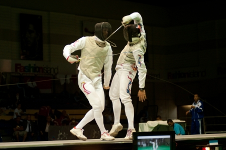 Thailand Open Fencing Championships 2012 in Bangkok,Thailand  Stock Photo - 16102695