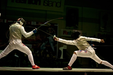 Thailand Open Fencing Championships 2012 in Bangkok,Thailand  Stock Photo - 16102708