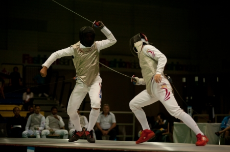 Thailand Open Fencing Championships 2012 in Bangkok,Thailand  Stock Photo - 16102685