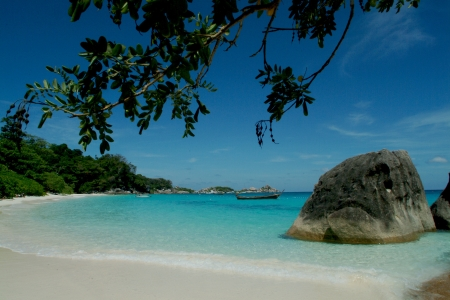 Koh phad , Similan island,Southern of Thailand Stock Photo