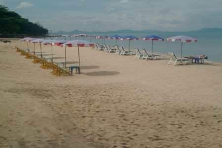 Pattaya beach in Middle of Thailand  photo