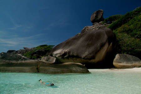 snorkle: Snorkle in the sea at Similan island, Southern of Thailand