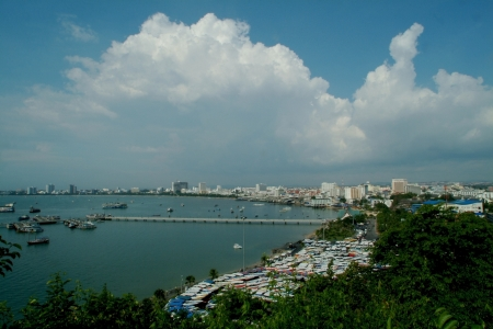 view point Pattaya beach,Middle of Thailand  photo