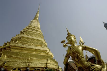 The Angel in Wat Phra Kaew is the important temple in Bangkok,Middle of Thailand  Stock Photo - 16128989