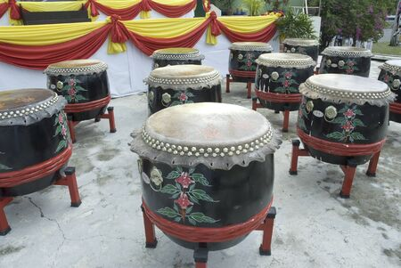chinese drum: Traditional chinese drum show  Stock Photo
