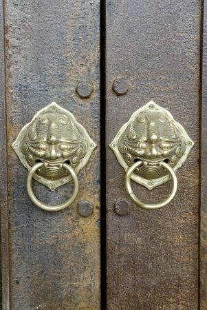 Vintage Chinese Art Doorbell  Stock Photo - 16130332