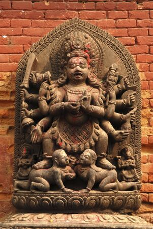hindu god shiva: Hindu god Shiva sculpture in Kathmandu city,Nepal  Stock Photo