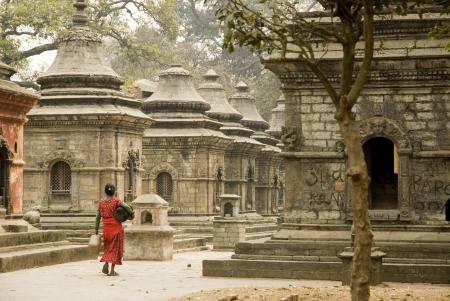 stupas: Stupa sulla collina Tempio di Pashupatinath, Katmandu, Nepal