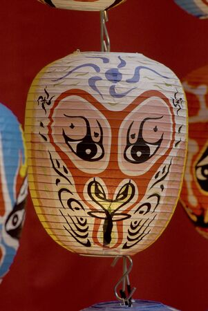Chinese mask Lanterns   photo
