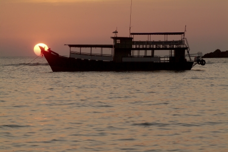 Sunset in Andaman sea  photo