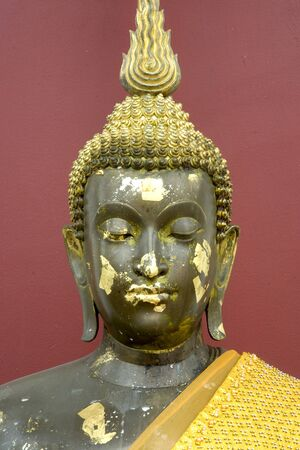 Face of buddha in Thai temple  photo