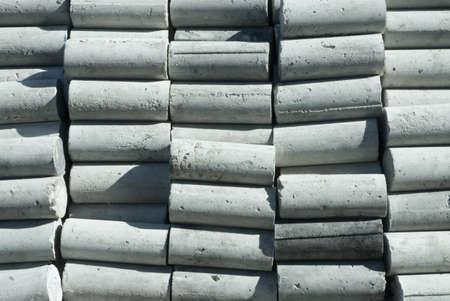 cement pole: Short pole cement texture   Stock Photo