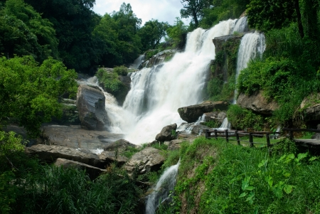 Mae Khang waterfall in Intranon National park,Northern of Thailand