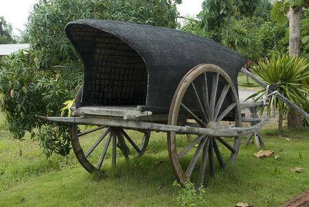 Thai ancient cart  Stock Photo - 16329295