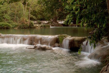 Waterfall near highway in Thailand Stock Photo - 16328870