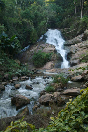 Waterfall in deep forest , Thailand Stock Photo - 16328841
