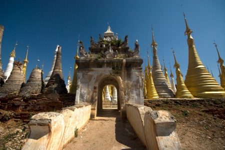 Sanctuary Shwe Inn Taing near Inle lake in Myanmar Stock Photo - 16393817