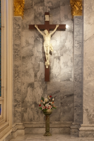 crucify: A statue of Jusus Crucified on the cross