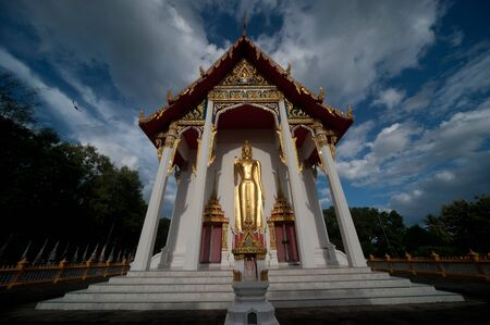 Church in Thai temple , Middle of Thailand  photo
