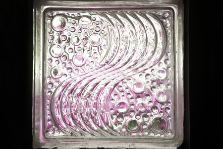 diagonals: Glass block for lighting in the room   Stock Photo
