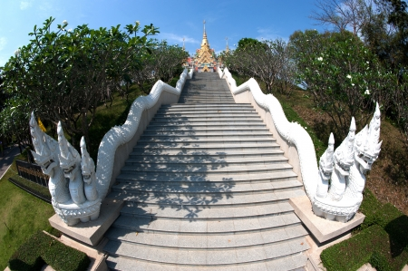 Stairs to temple on the hill  photo