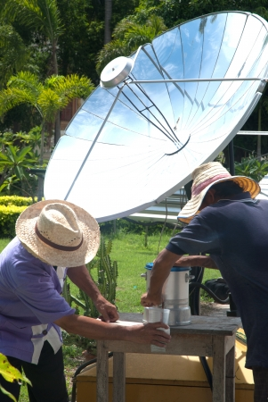 Water from solar cell  photo